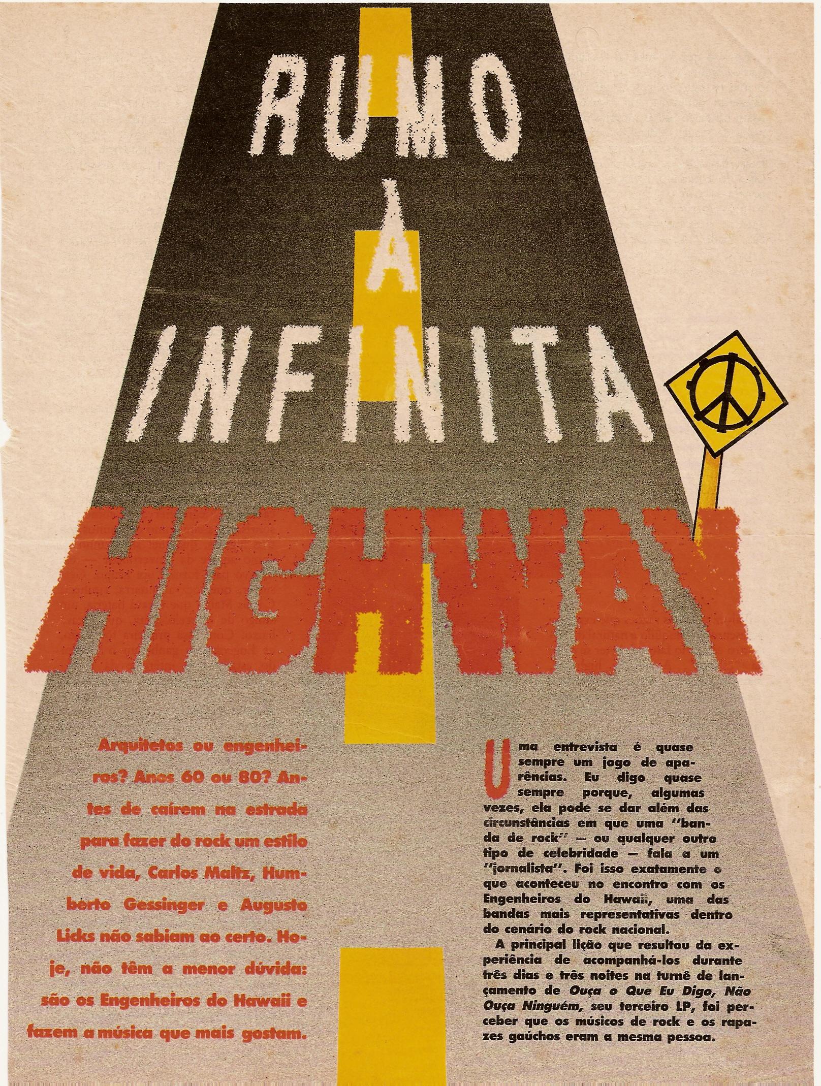 1988 Engenheiros Do Hawaii Rumo à Infinita Highway Tato Coutinho