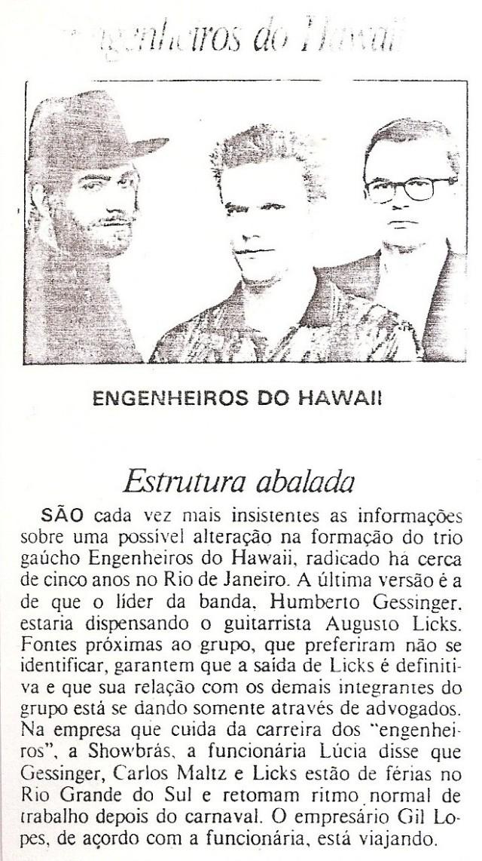 1994 - Estrutura abalada