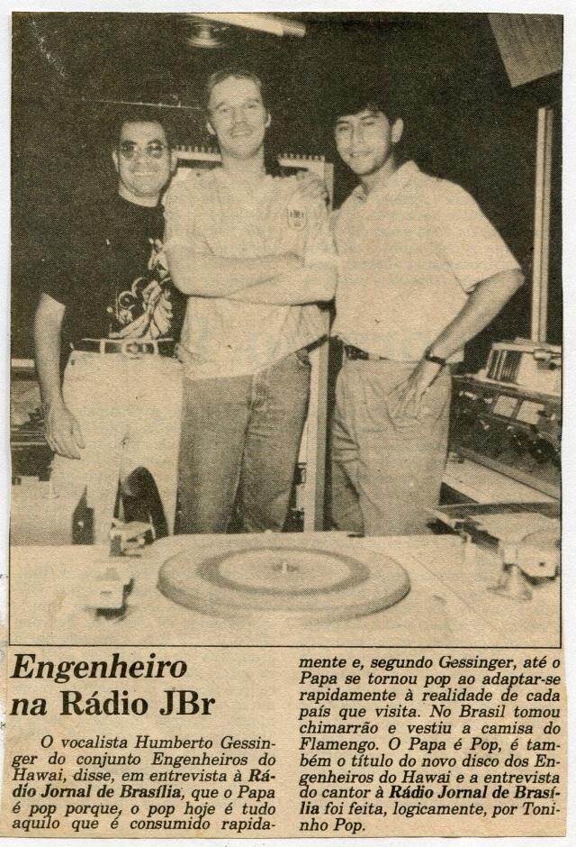 1990 - Engenheiro na Rádio JBr